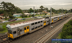 R13 arrives into Warwick Farm with a service to Liverpool....