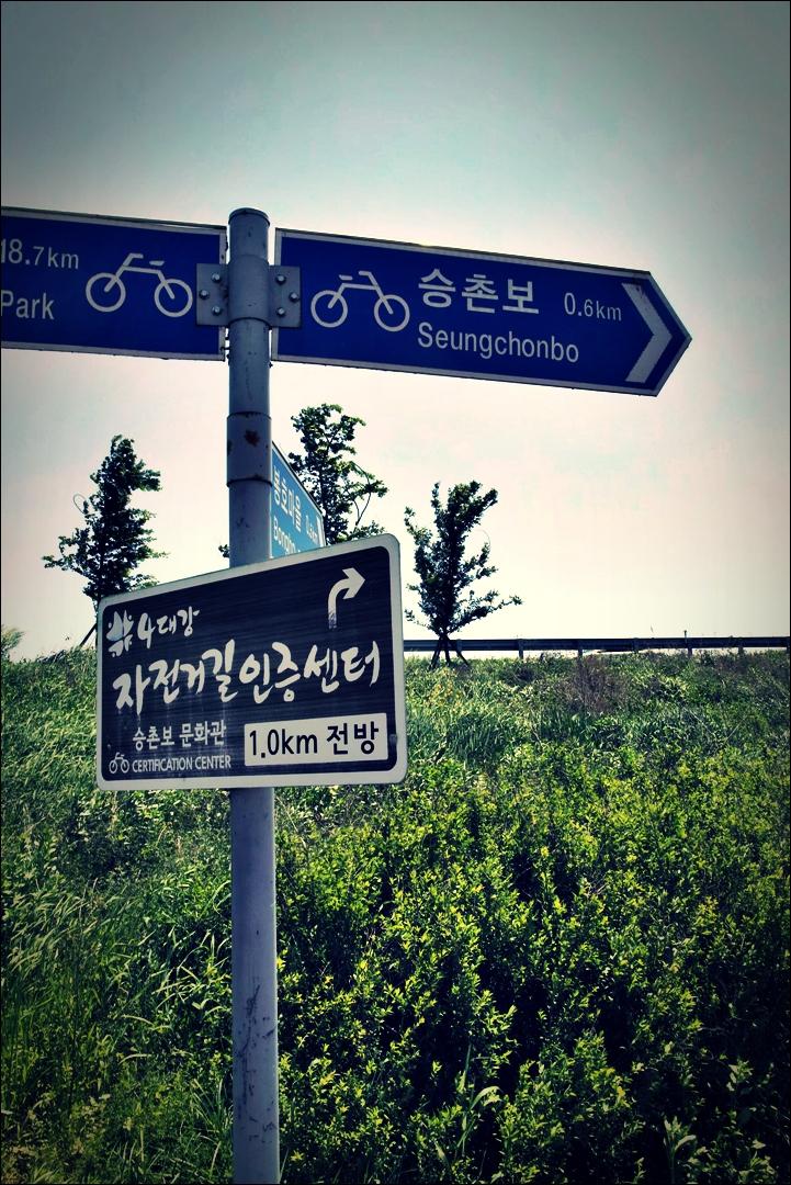 승촌보 인증센터 가는 길-'영산강 자전거 종주 Yeongsan_River_Bike_Riding'