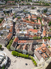 Square view from top of Ulm Munster