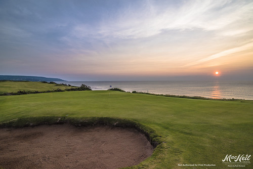 Sunset tonight at the newly opened Cabot Cliffs
