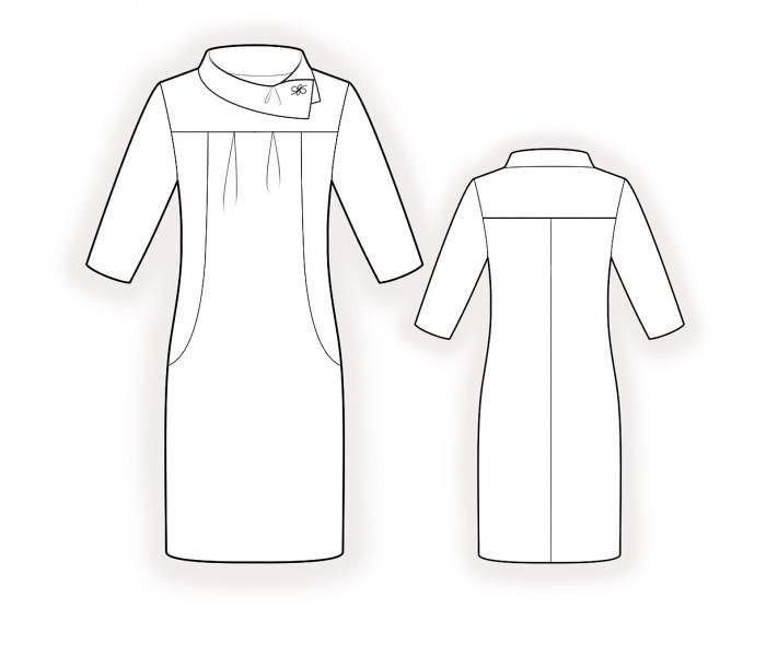 Lekala 4393 knit dress 1721_technical_drawing_11381