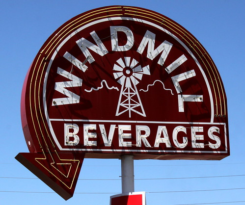 Windmill Beverages neon sign