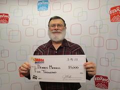 Dennis Morris - $5,000 - Mega Millions - Riggins - Riggins One Stop