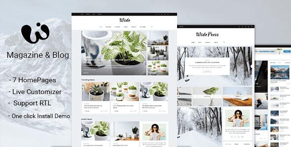 Wide WordPress Theme free download