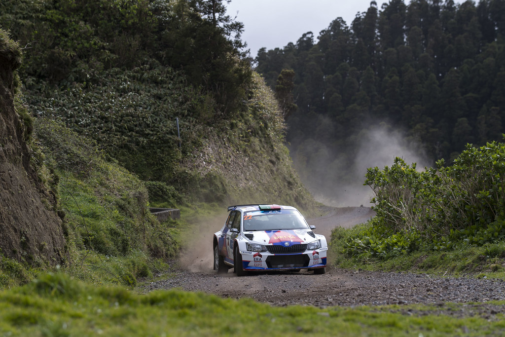 22 MAGALHAES Bruno MAGALHAES Hugo Skoda Fabia R5 Action during the 2017 European Rally Championship ERC Azores rally,  from March 30  to April 1, at Ponta Delgada Portugal - Photo Gregory Lenormand / DPPI