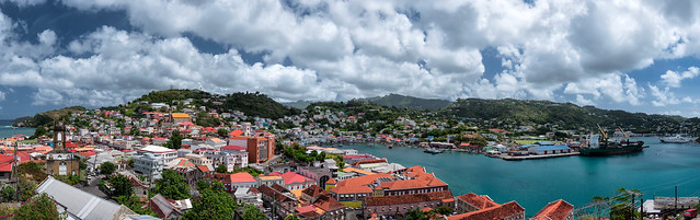 Cloud Covered but Colorful Caribbean Capital