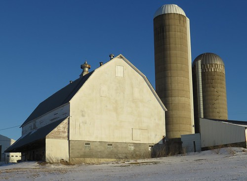 Wisconsin Dairy Barn and Silos (Buffalo County, Wisconsin)