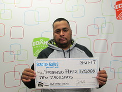 Fernando Perez - $10,000 - High Stakes Casino - Jerome - Honkers Mini Mart