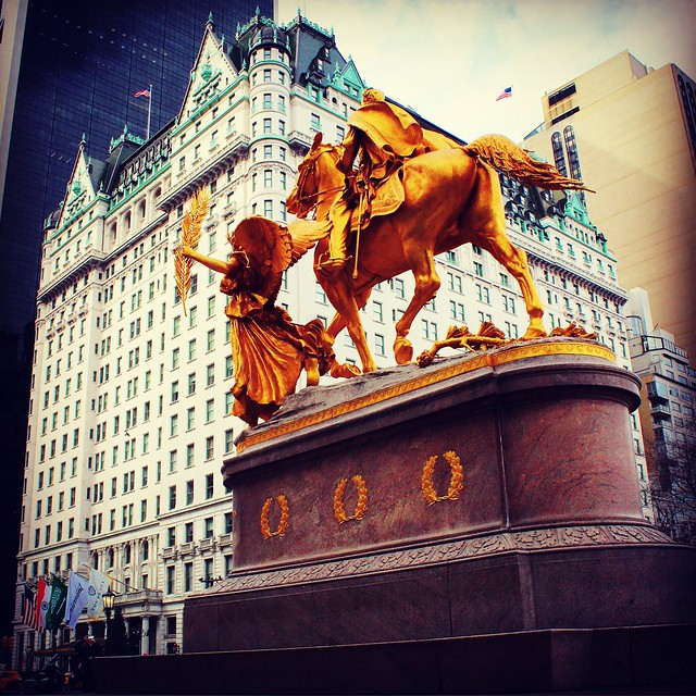 Plaza Hotel & William Tecumseh Sherman Monument NYC