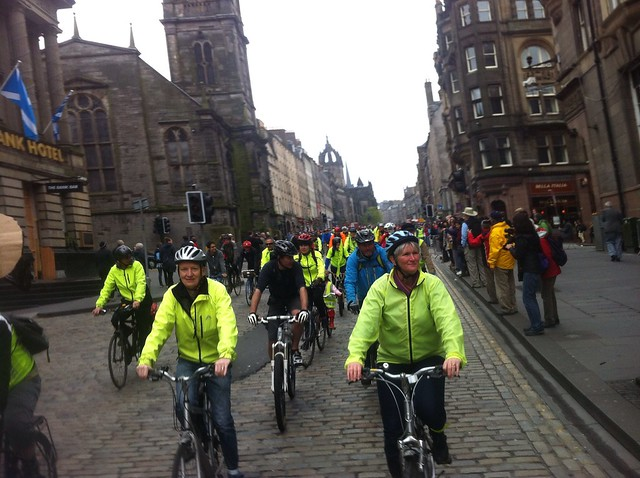 Pedal on Parliament 2013 on the Royal Mile