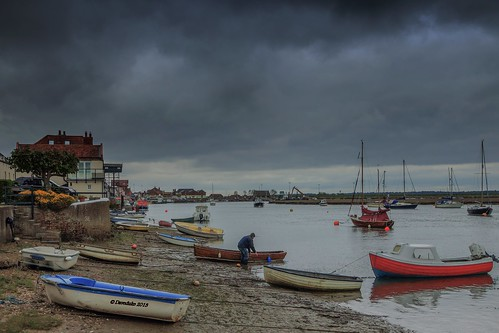 Approaching Storm at Wells-next -the Sea. Norfolk.