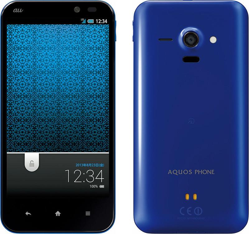 AQUOS PHONE SERIE SHL22 実物大の製品画像