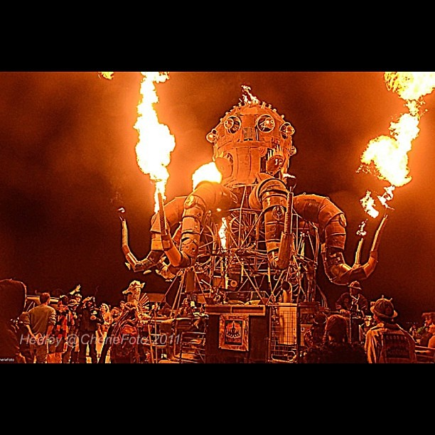 #steampunk on the #playa El Pulpo Mechanico, Burning Man 2011