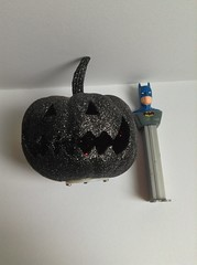 Halloween mupking and Pez batman