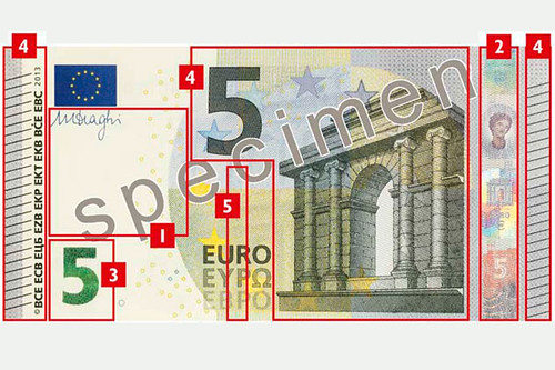 New 5 Euro note 2013