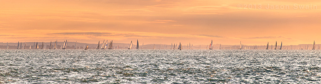 Round the Island Race Sunrise Panorama.