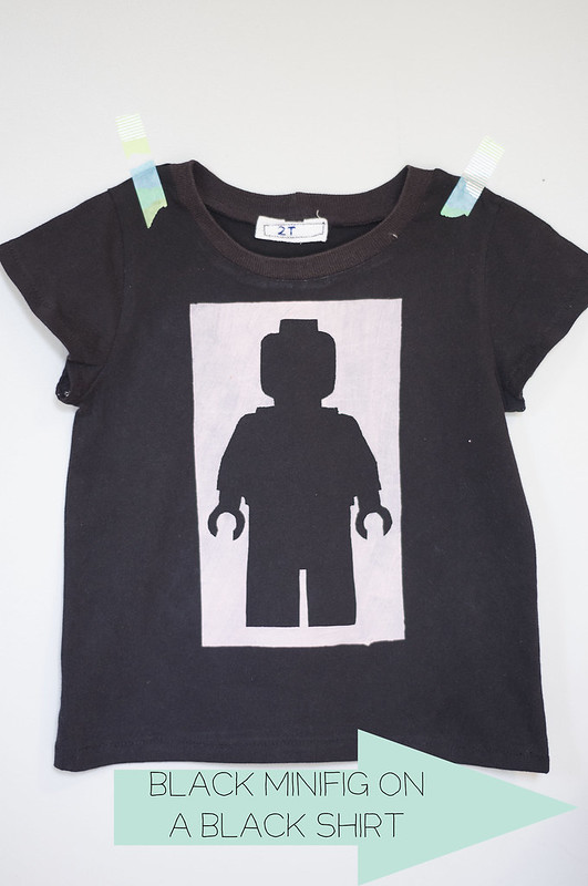 Black minifig on a black shirt