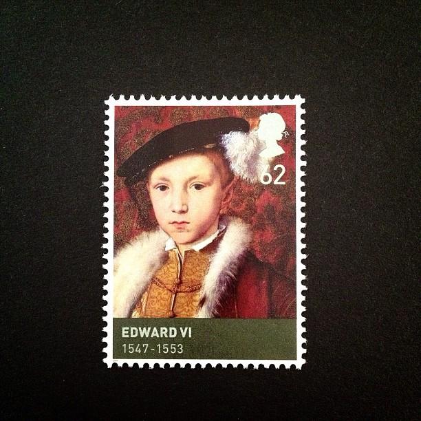 Day 9: Red #edwardVI #stamp #postagestamp #red #boy #royalty #british #uk #psjune #postalsociety #tudor
