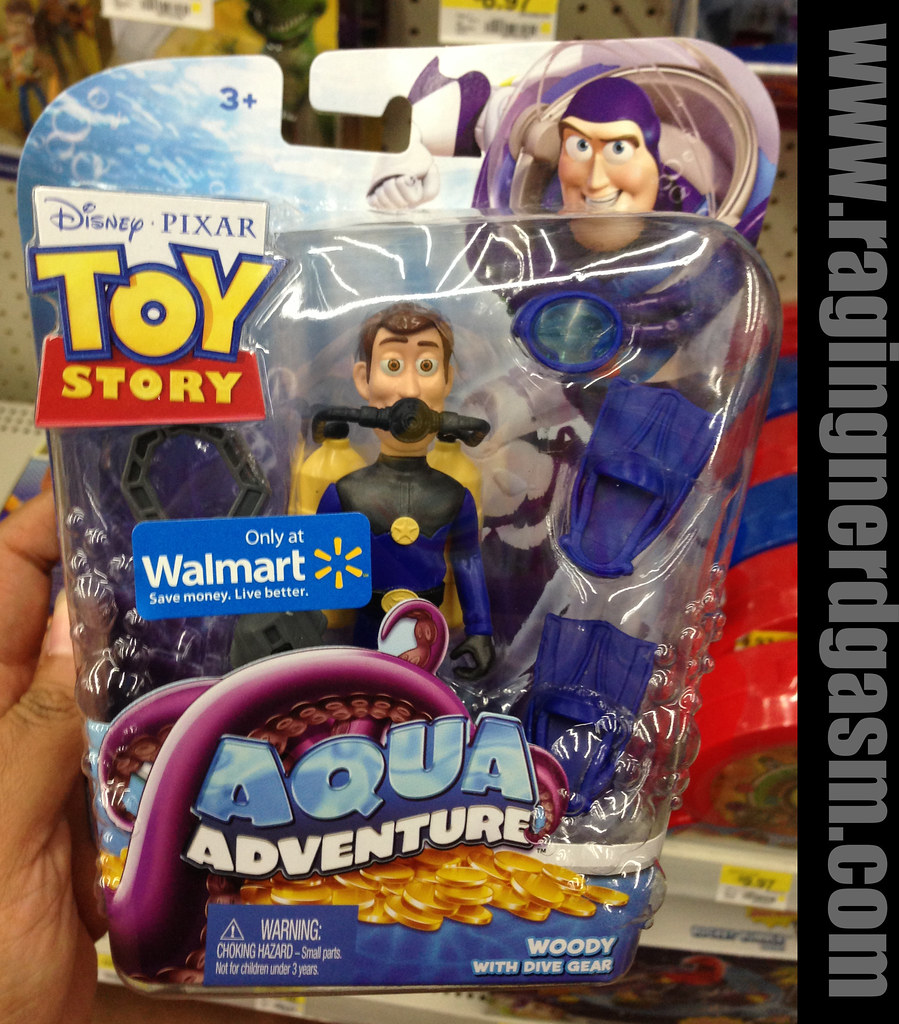 Disney's Pixar Toy Story Walmar Exclusive Aqua Adventure woody with dive gear