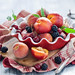 Summer fruit: cherries and peaches by The Little Squirrel