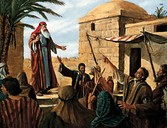 Lehi Prophesying to the People of Jerusalem