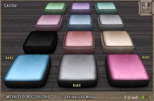 GACHA ! *RnB* Mesh Floor Cushions I - Gacha