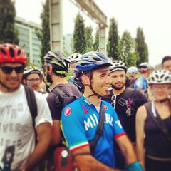 So so happy at the starting grid of #private3 #alleycat #ecmcpreevent2013 #milano