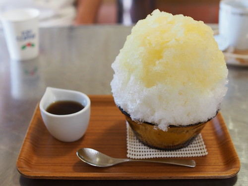 Japanese Shaved Ice Dessert - Yuzu Citron & Ginger Honey