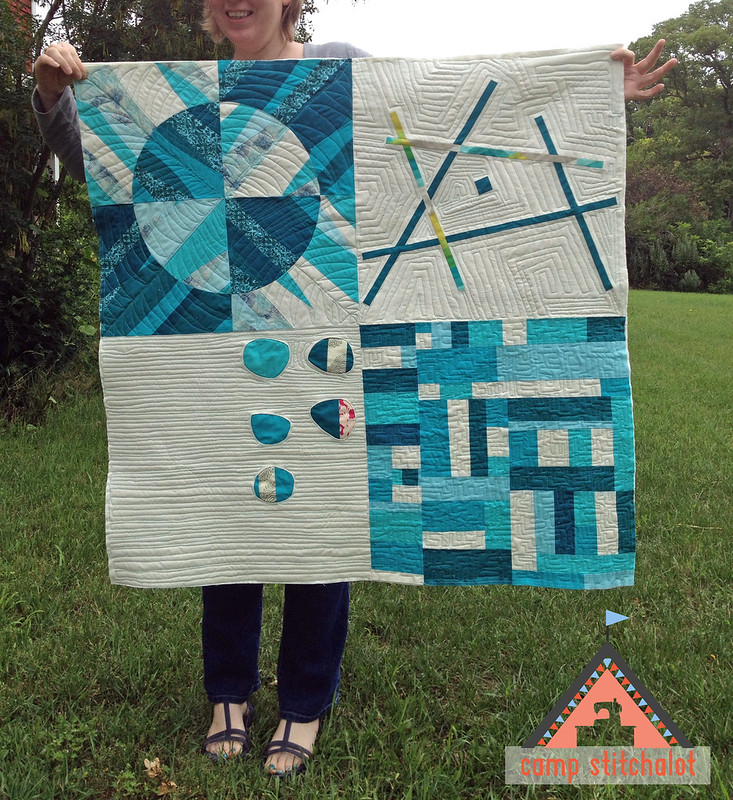 Camp Stitchalot August 2013  Sampler quilted