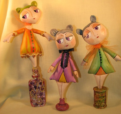 Painted Folk Art Dolls