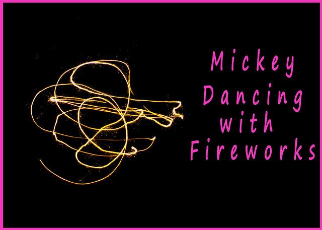 Mickey dancing sparkler