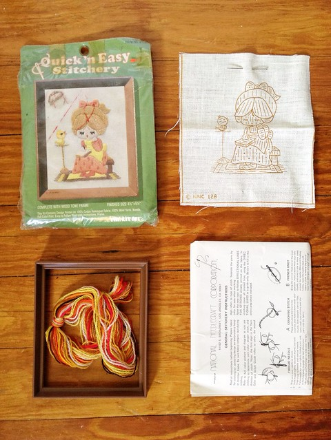 Vintage embroidery kit