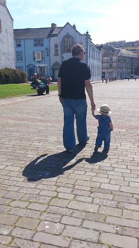 Mark and Elliot, shadows