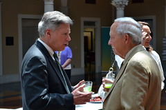 President LaForge and President emeritus, Kent Wyatt in conversation