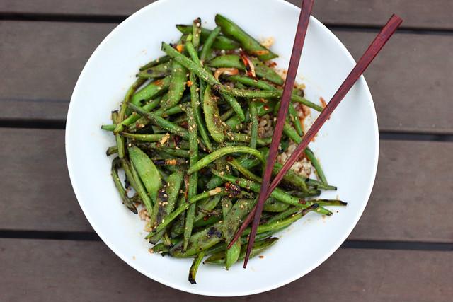 Grilled Asian Green Beans - Gluten-free + Vegan