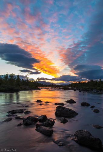 sunset sky orange sun reflection water norway clouds canon evening forrest 6d oppland canon6d platinumheartaward mygearandme tplringexcellence vigilantphotographersunite vpu2