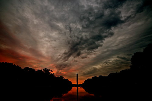 storm reflection clouds sunrise day washingtonmonument reflectingpool