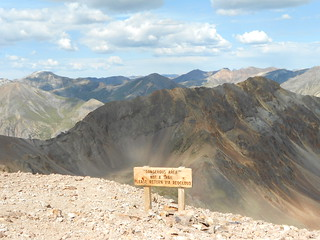 Sign on the Way to Sunshine Peak