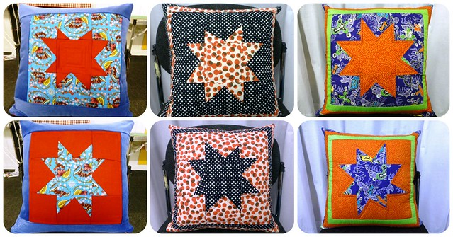 Wonky Star Cushion class Aug13