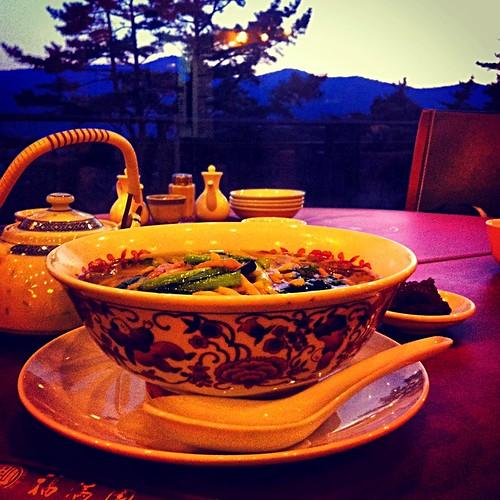 青椒肉絲麺