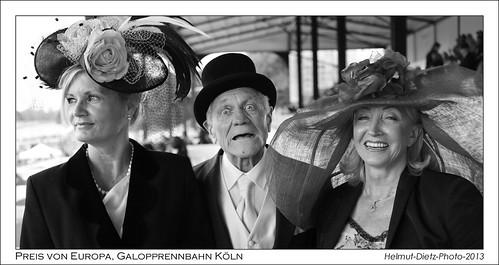 Die Rennbahnexperten: Susan, Oskar, Renate ... beim 51. Preis von Europa, Galopprennbahn K�ln-Weidenpesch, 22.9.2013