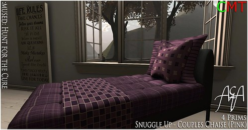 ::A&A:: Snuggle Up - Couples Chaise (Pink) - Hunt for the cure by Alliana Petunia