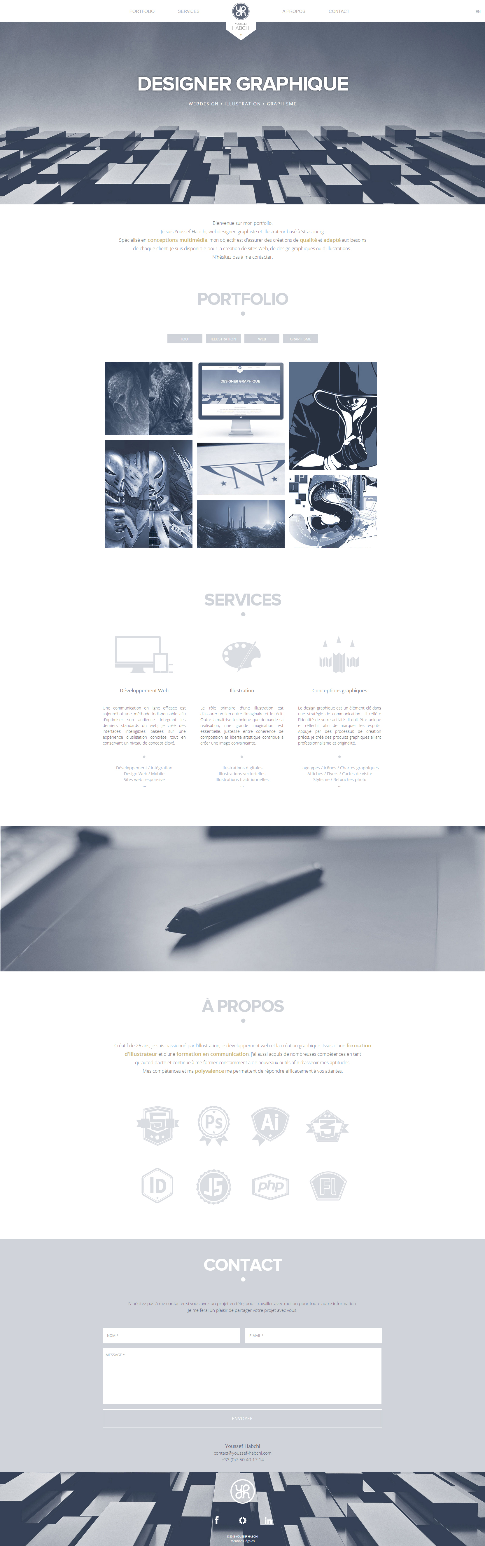 Youssef Habchi One Page Responsive Website