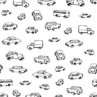 car fabric design black and white