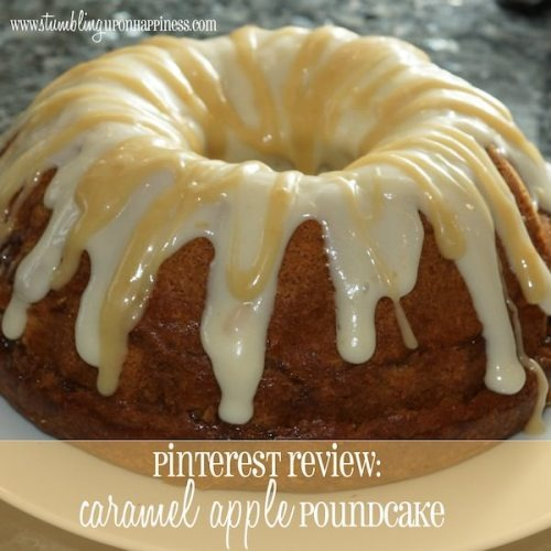 PINTEREST REVIEW: CARAMEL APPLE POUNDCAKE