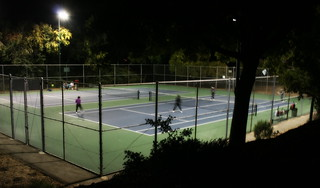 Tennis after dark