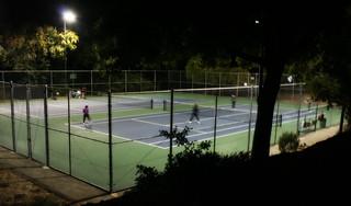 Tennis after dark