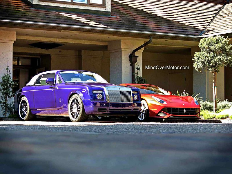 Rolls Royce Phantom DHC and Ferrari F12
