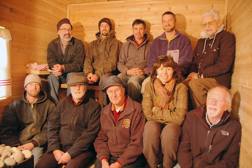 the Finnish Sauna Fundamentals class visits The Snowdeal Sauna and Endures Stories.