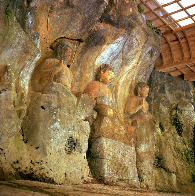 臼杵石仏 stone figures of the Buddha at Usuki, Japan